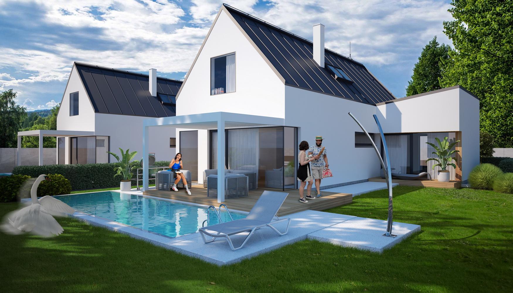 TopRealSK –  Ponúkame na predaj nový projekt s jedinečnou architektúrou rodinných domov Lintavy – Stupava